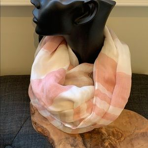 Authentic Burberry Blue Label Pink Strip Scarf